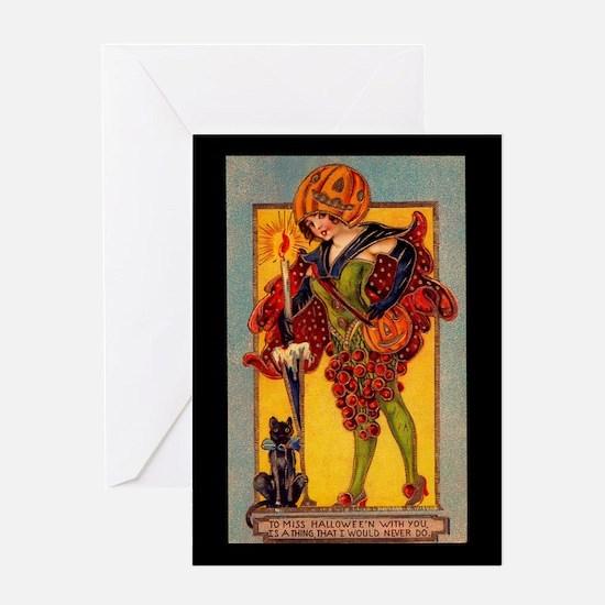 Miss Halloween Greeting Card