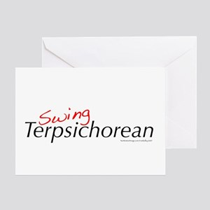 Swing Terpsichorean Greeting Card
