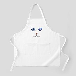 Blue Eyes Space Cat Apron