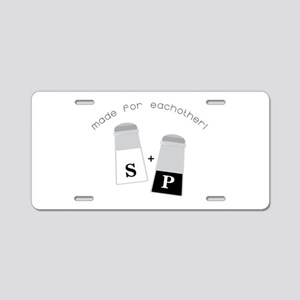 Made For Each Other Aluminum License Plate