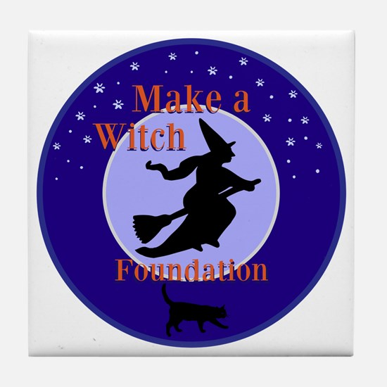 Make a Witch Foundation Tile Coaster