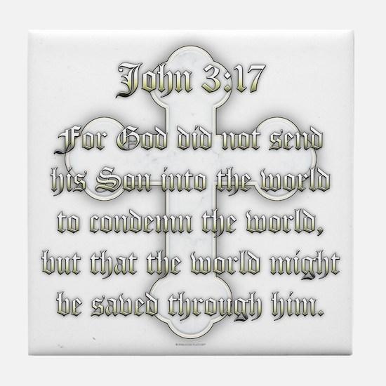 John 3:17 Tile Coaster