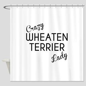 Crazy Wheaten Terrier Lady Shower Curtain