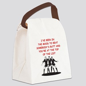 a funny rugby joke on gifts and t Canvas Lunch Bag