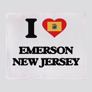 I love Emerson New Jersey Throw Blanket