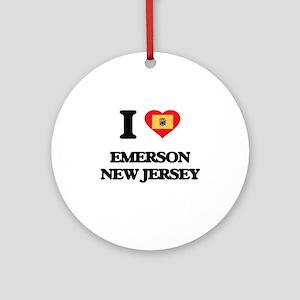 I love Emerson New Jersey Ornament (Round)