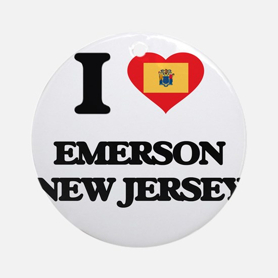 I love Emerson New Jersey Ornament (Round)