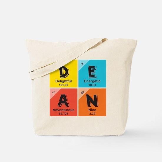 Custom Periodic Name Design Tote Bag