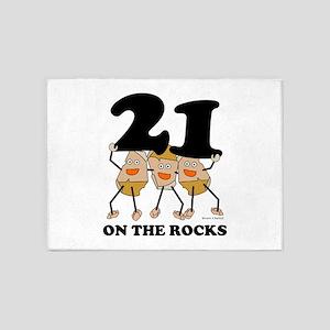 21 on the Rocks 5'x7'Area Rug