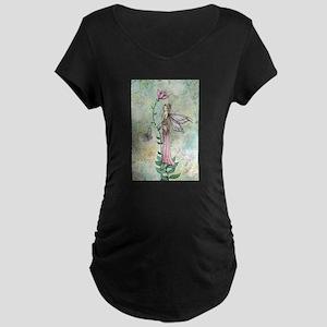 A Flower Fairy's Rest Fairy Fant Maternity T-Shirt