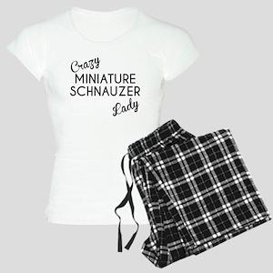 Crazy Miniature Schnauzer Lady Pajamas