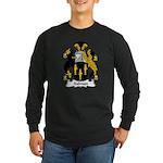 Salmon Family Crest Long Sleeve Dark T-Shirt