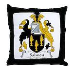 Salmon Family Crest Throw Pillow