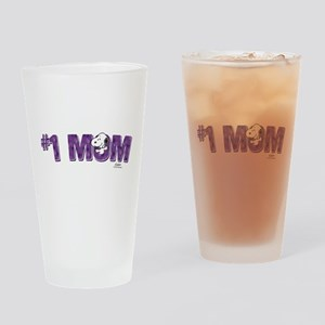 Snoopy - Mom is #1 Drinking Glass