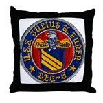 USS JULIUS A. FURER Throw Pillow