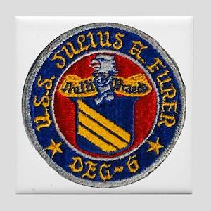 USS JULIUS A. FURER Tile Coaster