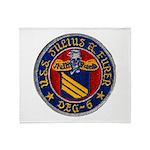 USS JULIUS A. FURER Throw Blanket