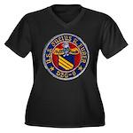 USS JULIUS A Women's Plus Size V-Neck Dark T-Shirt