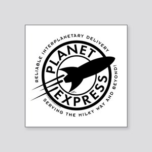"Planet Express Logo Square Sticker 3"" x 3"""