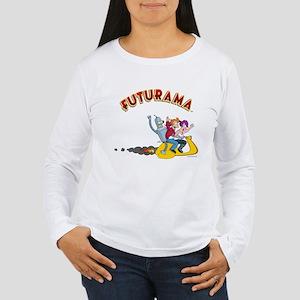 Futurama Hover Scooter Women's Long Sleeve T-Shirt