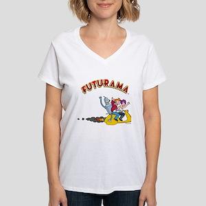 Futurama Hover Scooter Women's V-Neck T-Shirt