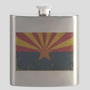 Arizona State Flag VINTAGE Flask