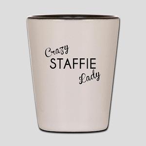 Crazy Staffie Lady Shot Glass