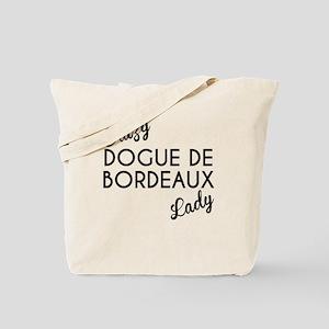 Crazy Dogue de Bordeaux Lady Tote Bag