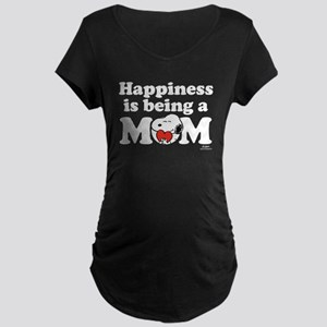 Happiness is being Mom Maternity Dark T-Shirt