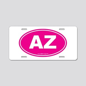 Arizona AZ Euro Oval Aluminum License Plate