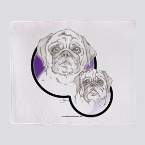 Pugs Throw Blanket