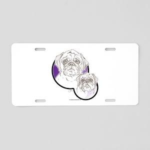 Pugs Aluminum License Plate