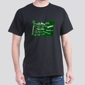 Oregon Fan Map Dark T-Shirt