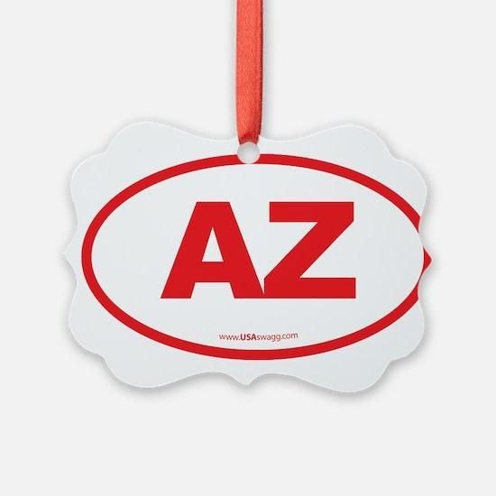Arizona AZ Euro Oval Ornament