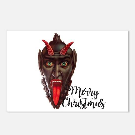 krampus merry christmas Postcards (Package of 8)