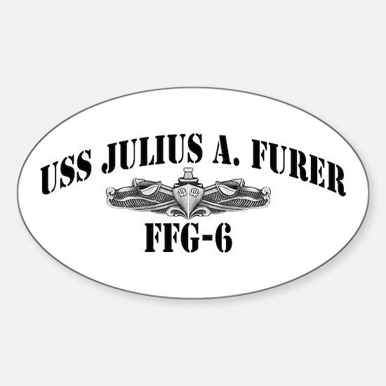 USS JULIUS A. FURER Sticker (Oval)