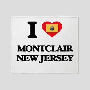 I love Montclair New Jersey Throw Blanket
