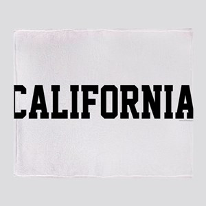 California Jersey Font Throw Blanket