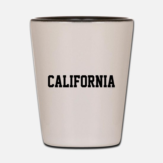 California Jersey Font Shot Glass