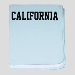 California Jersey Font baby blanket