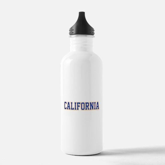 California Jersey Font Water Bottle