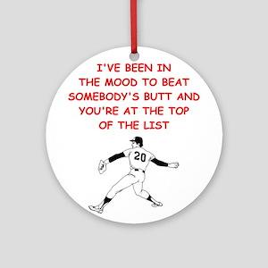 strat baseball Ornament (Round)