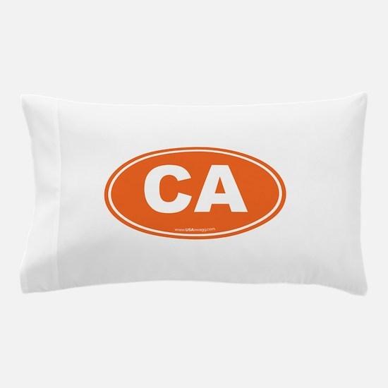 California CA Euro Oval Pillow Case