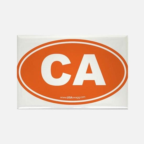 California CA Euro Oval Rectangle Magnet