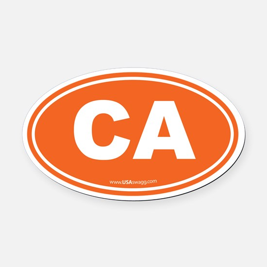 California CA Euro Oval Oval Car Magnet