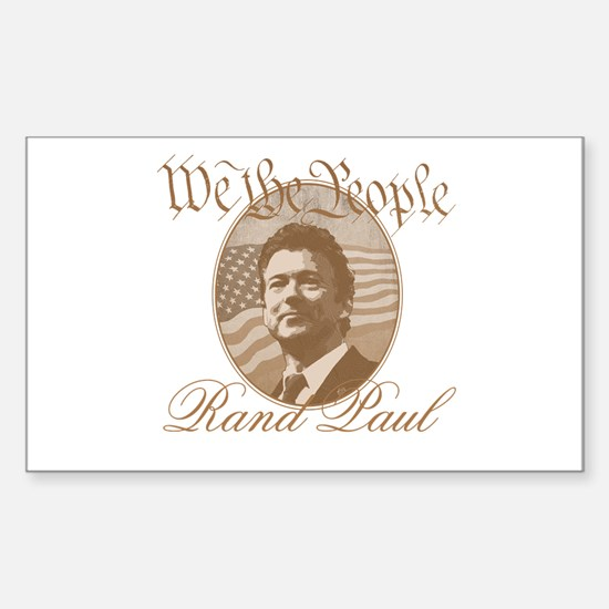 We the people - Rand Paul Sticker (Rectangle)