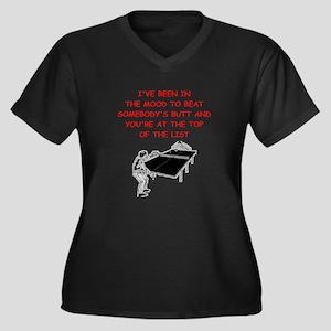 table tennis joke Plus Size T-Shirt