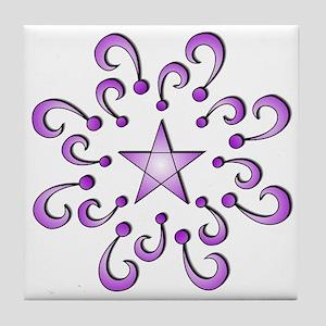 TShirtPurpleStarDesign Tile Coaster