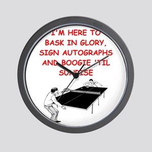 table tennis joke Wall Clock