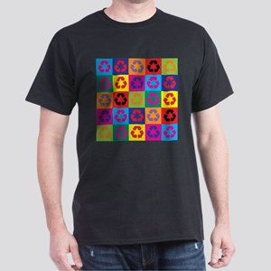 Pop Art Recycling Dark T-Shirt